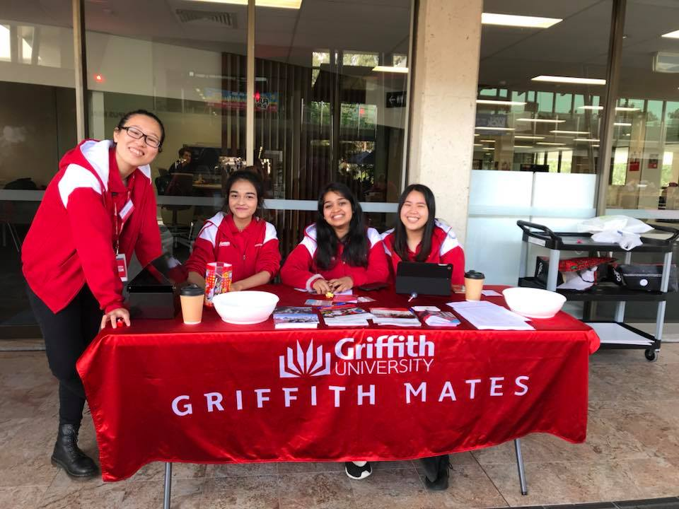 Griffith Mates Welcome Booth