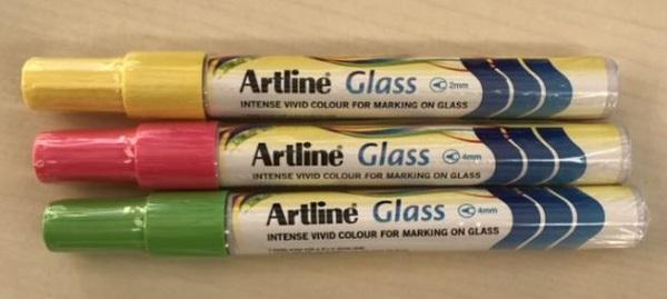 Artline Glass Markers - Assorted Colours - PLU 105906