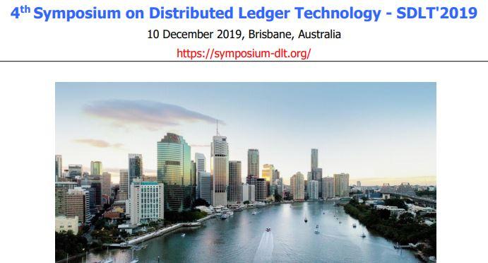 Symposium on Distributed Ledger Technology 2019