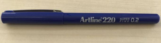 Artline 220 Super Fine Artliner - Blue PLU 105903