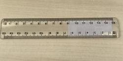 Ruler Clear 15cm - PLU 105929