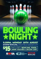 T2 - SRC/GUPSA Bowling Night - Monday August 30, 2021