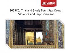 3023CCJ Thailand Study Tour