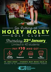 SRC - GUPSA Holey Moley Golf (18+ ONLY) - Thursday 23rd January 2020