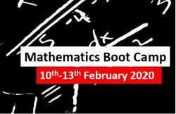 Mathematics Boot Camp