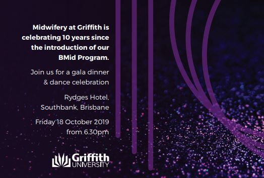 Griffith Midwifery 10 Year Gala Dinner