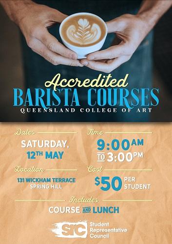 SRC Queensland College of Art Accredited Barista Course