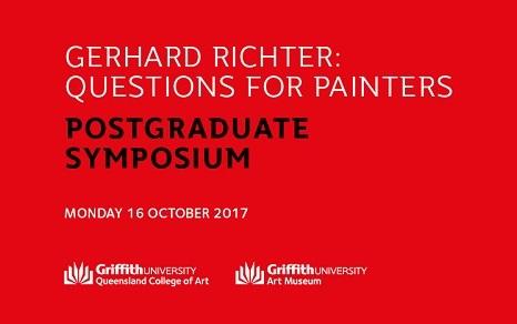 Gerhard Richter: Questions For Painters Postgraduate Symposium