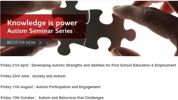 Knowledge is Power : Autism Seminar Series 2017 - Professional Registrations